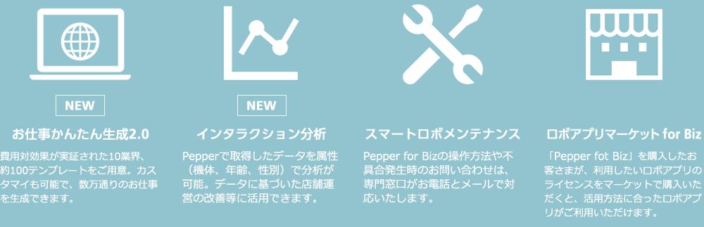 お仕事かんたん生成2.0 インタラクション分析 スマートロボメンテナンス ロボアプリマーケット for Biz